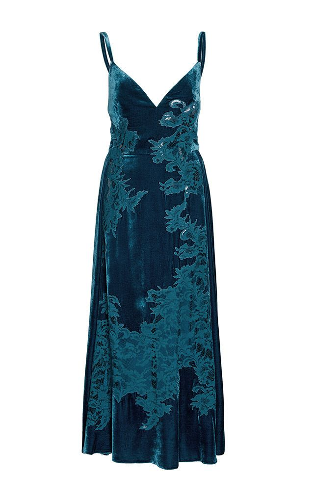 Velvet And Lace Slip Dress by ELIE SAAB