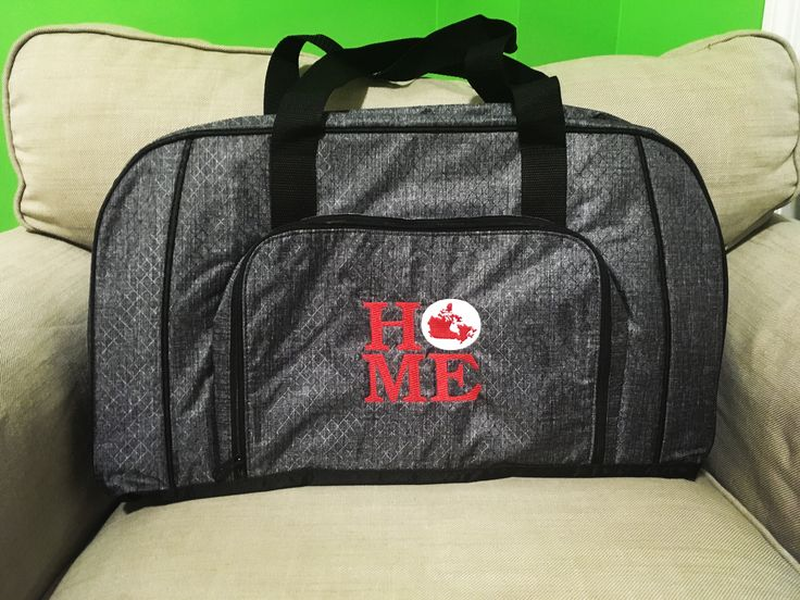 All packed duffle with home icon-it.
