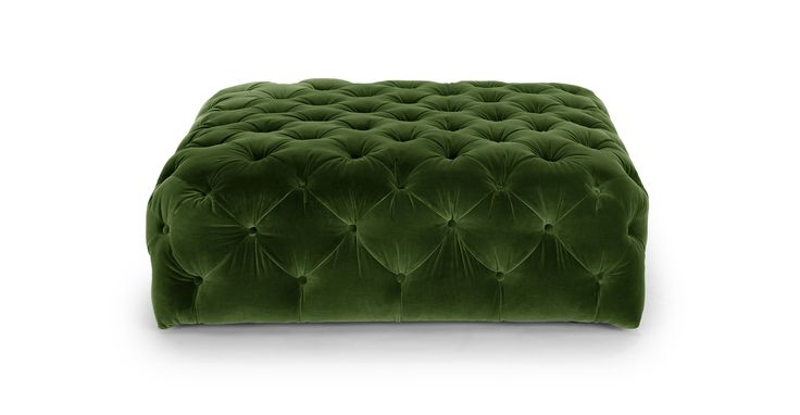 Diamond Grass Green Ottoman - Ottomans - Article | Modern, Mid-Century and Scandinavian Furniture
