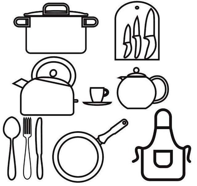 Cookingutensils Cookingtools Coloring Pages For Boys Coloring Pages For Girls Coloring Pages