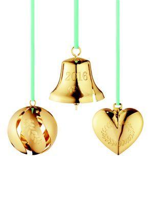 Georg Jensen - 24K Goldplated Brass Three-Piece Christmas Ornaments Set