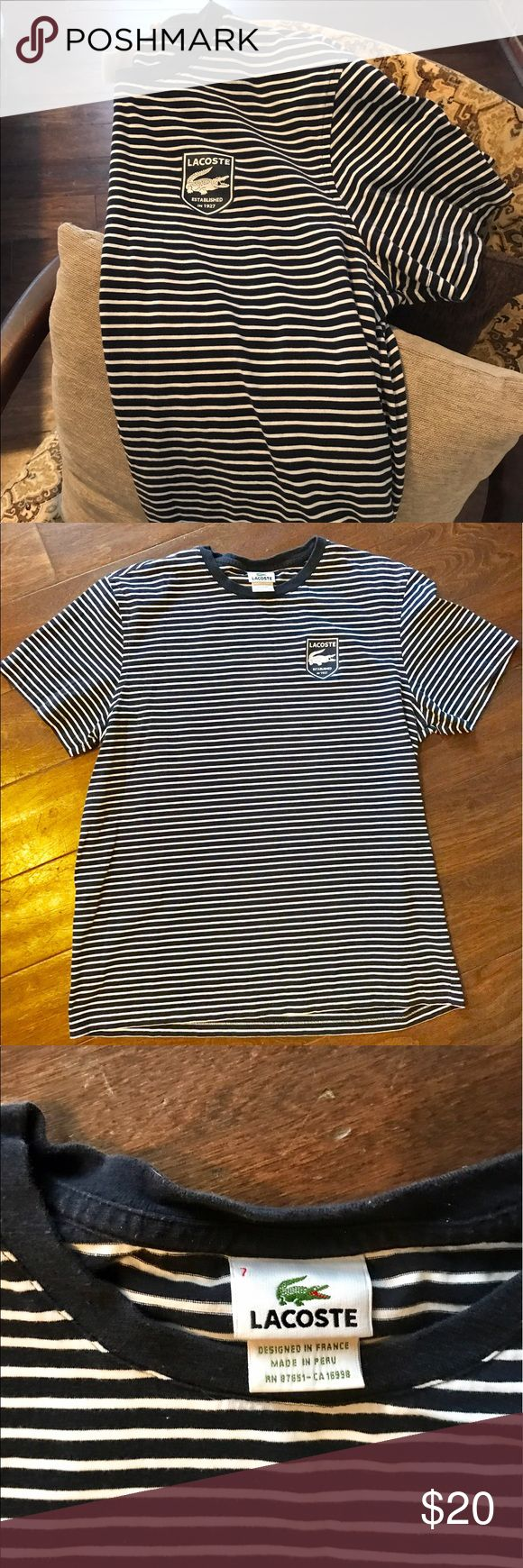 Lacoste t shirt Lacoste T shirt only worn once. Like new condition. No flaws. Lacoste Shirts Tees - Short Sleeve