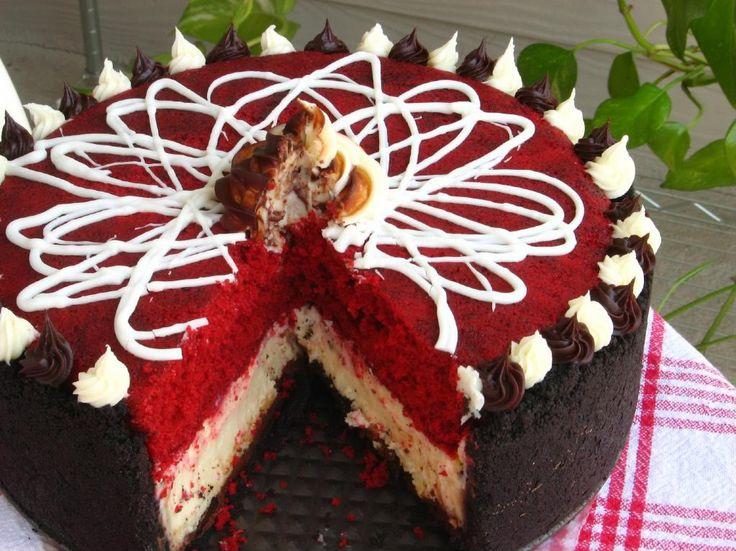 Red velvet cheesecakeDesserts, Fun Recipe, Sweets, Food, Homemade Recipe, Red Velvet Cheesecake Recipe, Yummy Recepies, Baking, Redvelvet