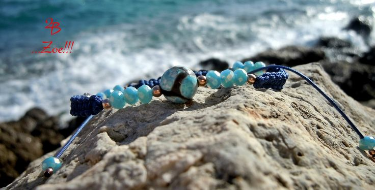 2B ...Appealing!!! Stunning Tibetan agate stone bracelet, with a dainty design and feel of boho style!!!