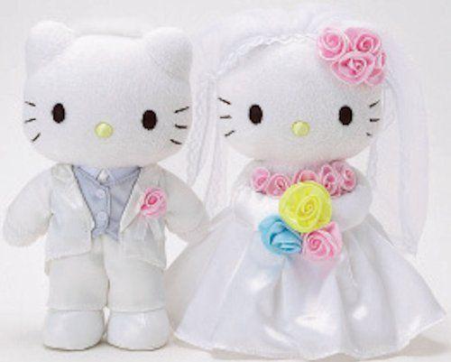 Hello Kitty Wedding Gift: Happy Wedding Bridal Plush Set W/ Kitty