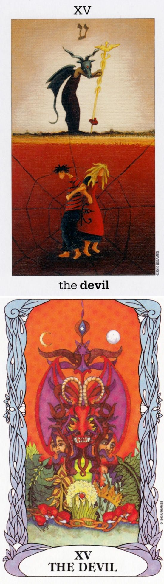 THE DEVIL: materialism and freedom (reverse). Sunmoon Tarot deck and Moon garden Tarot deck: are tarot cards real, free daily tarot card reading online and tarw online. Best 2017 paganism and oracles eye. #tarotcardsart
