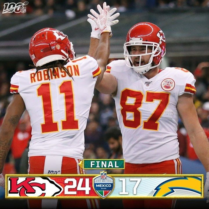 Nfl Final The Chiefs Get The W In Mexico Kcvslac Chief Superbowl Champions Nfl