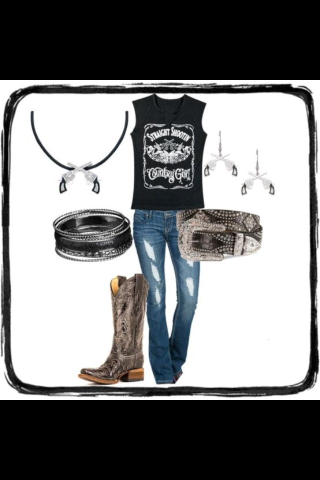 Love this hot little redneck outfit!