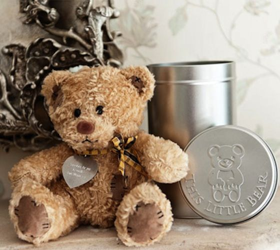 Personalised Teddy Bear In A Gift Tin / Show someone special just how much you love and care for them with a cute and cuddly personalised teddy bear just for them!  http://thegadgetflow.com/portfolio/personalised-teddy-bear-in-a-gift-tin/