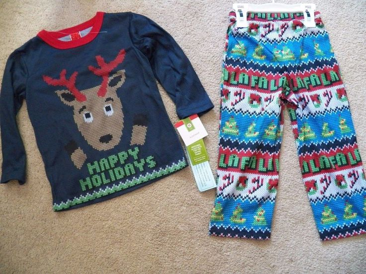 KIDS 2T or 4 - Toddlers Target Sleepwear Ugly Christmas Sweater Pajamas 2 pc NWT #Target #TwoPiece