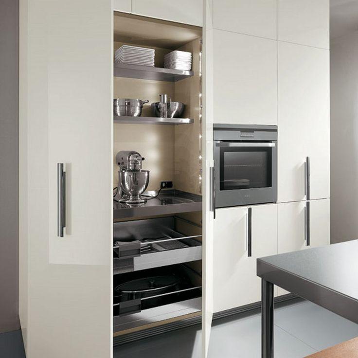55 best kitchen storage ideas images on pinterest - Kitchen appliance storage cabinet ...