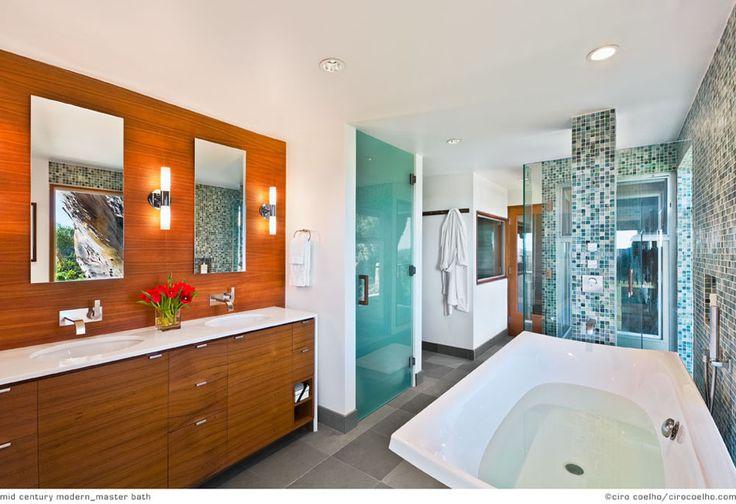 Mid Century Modern Bathroom Home Decor Ideas Pinterest