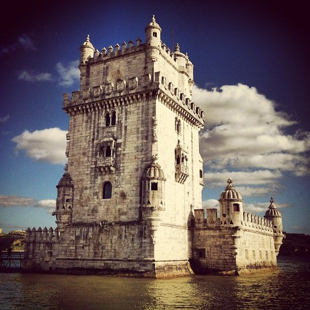Torre de Belém in Torre de Belém, Lisboa - The city's icon is also a symbol of the Age of Discovery. Built in the early 1500s, this ornate watchtower has been declared a World Heritage monument by UNESCO.