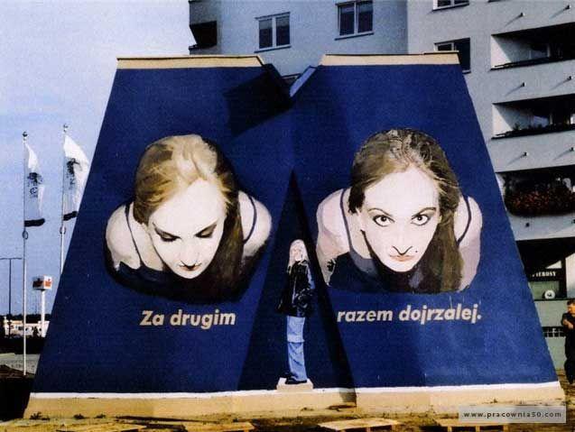 Ta przyjemność nigdzie się nie kończy / mural / Siostry Borowe