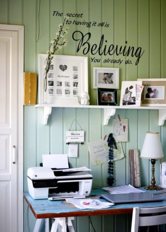 """This inspiring workspace is from our feature """"Floral Affair"""""""