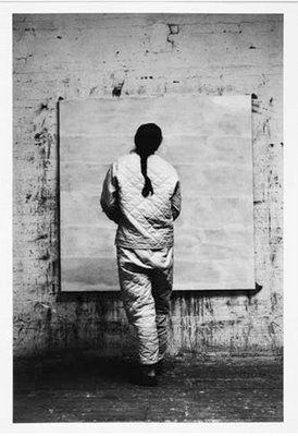 """Agnes Martin: """"My paintings are not about what is seen. They are about what is known forever in the mind."""""""