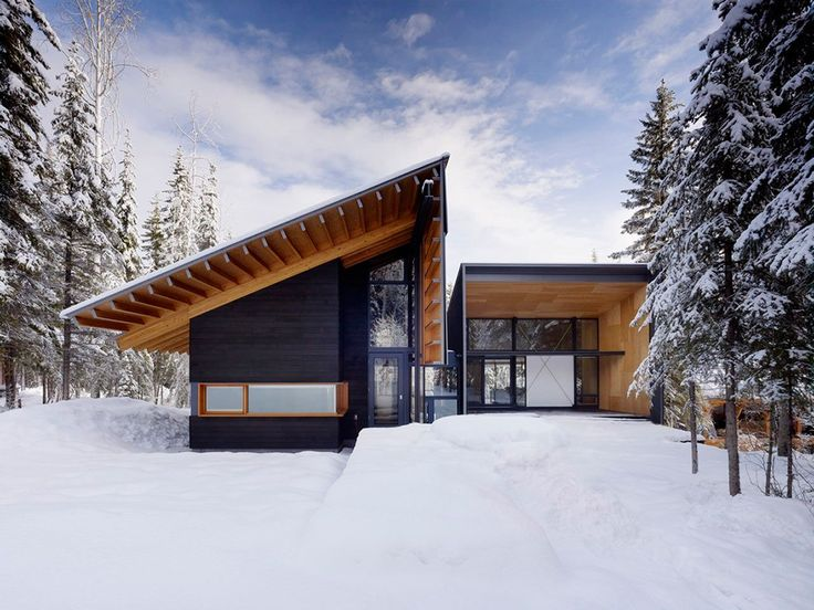 We wouldn't mind winter so much if we were spending the colder months in a cozy modern cabin designed and built for the elements.