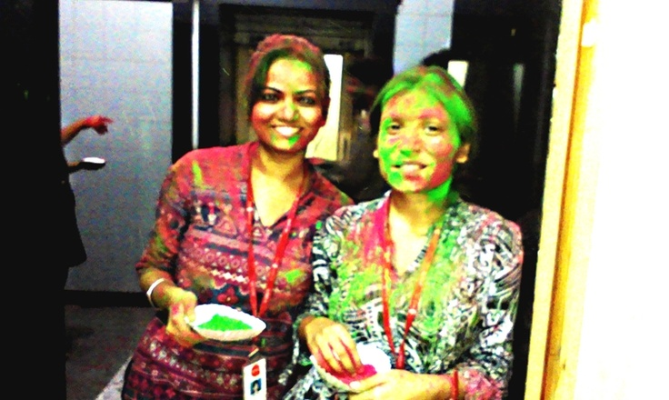 Holi fun with ardent team in India