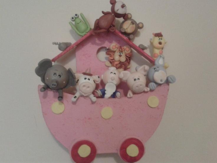 Centros de mesa para baby shower arca de noe animalitos for Centros de mesa para baby shower