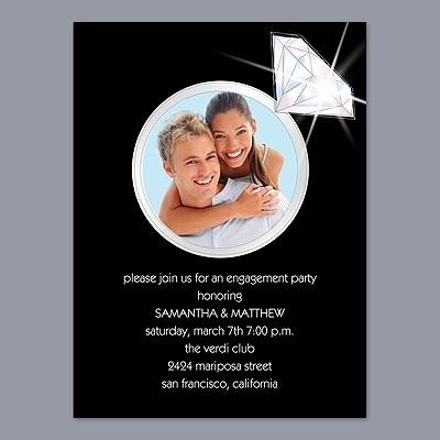 Diamond Ring - Engagement Party Invitation