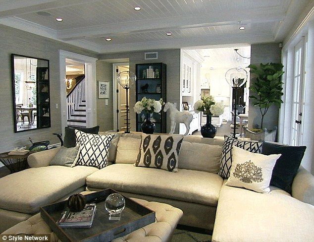The Rancic's (Giuliana + Bill) house - though I love bright colours, I like everything about this room.  really wanting to paint our living room light gray.  trying to talk the hubs into it.