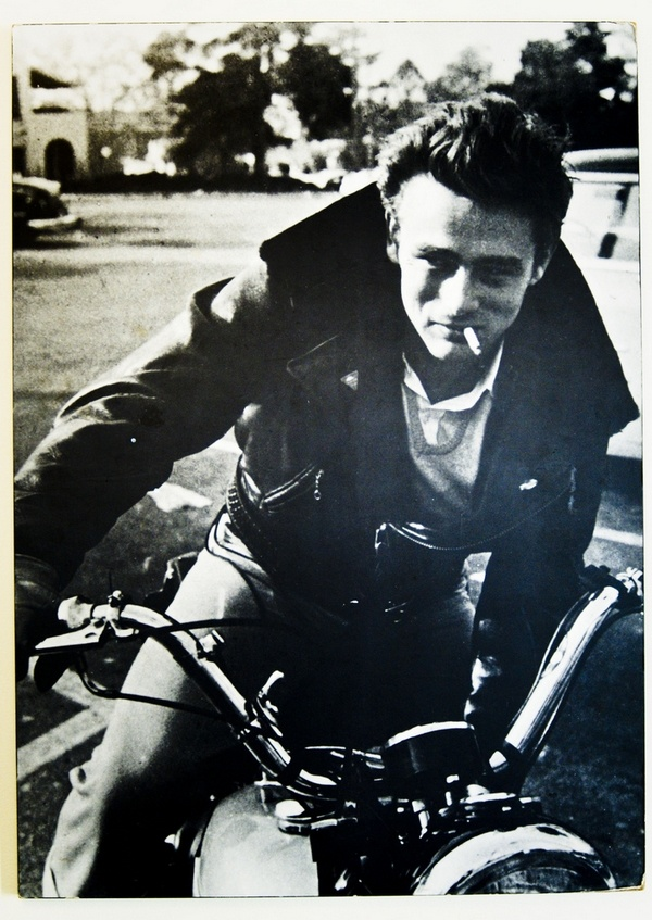 James Dean and his motorbike