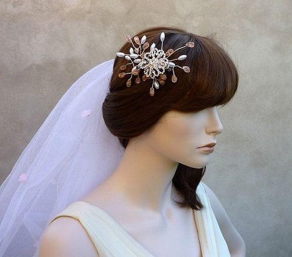 Wedding hair clip Aneta by wandadesign on Etsy, €30.00