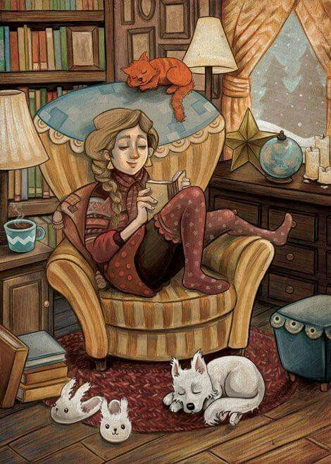 Love this picture. Home & books.