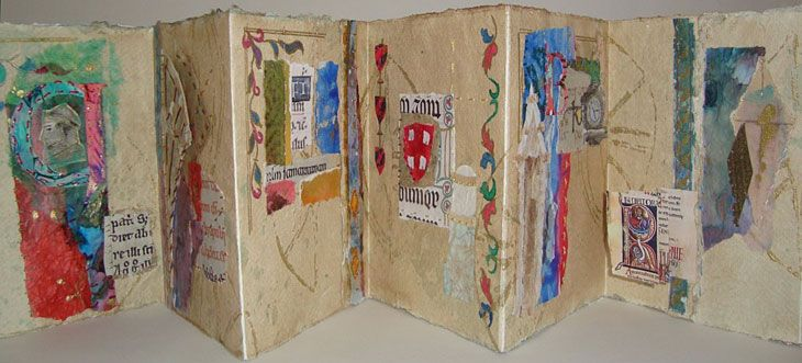 Ann Wheeler | Textile Study Group Concertina book that tells the story of a journey