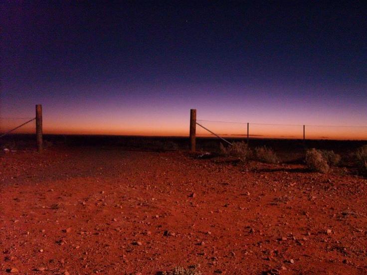 australian desert sunset