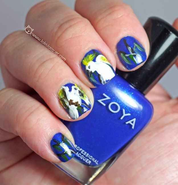 49 best australia day nails inspiration images on pinterest australia day nails parrots cockatoos prinsesfo Images