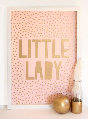 Cloud Nine Creative - Little Lady Print - A3