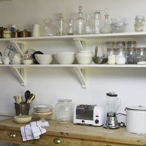 White Shelves in Kitchen