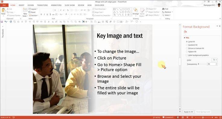 PowerPoint Photos merge with Background : Effect Tutorials