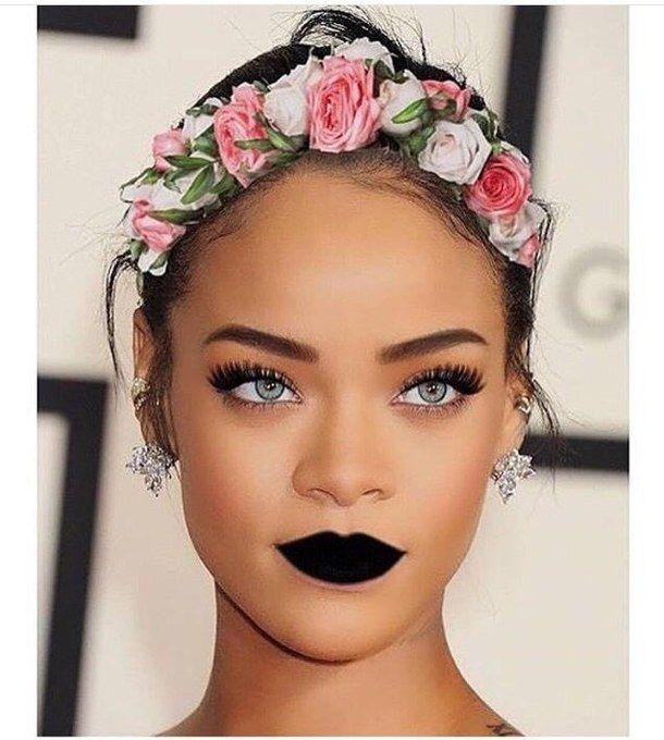 accessories, amazing, beautiful, beauty, black, blue eyes, classy, dark lips, elegant, eyebrows, famous, fashion, flawless, flowers, glamour, hair, hairstyles, inspiration, jealous, jewelry, lipstick, love, makeup, per, pink, pretty, rihanna, rose