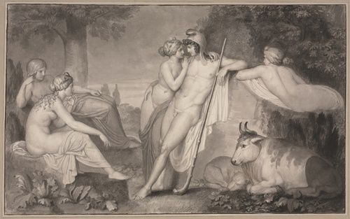 The Judgement of Paris, 1791    John Flaxman    Cleveland Museum of Art