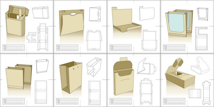 Vector Packaging Templates, Try It Out. | Design templates ...