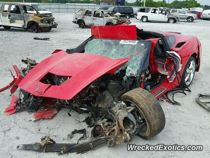 Chevrolet Corvette C7 Stingray crashed in AL