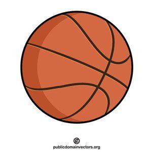 Basketball clip art vector graphics