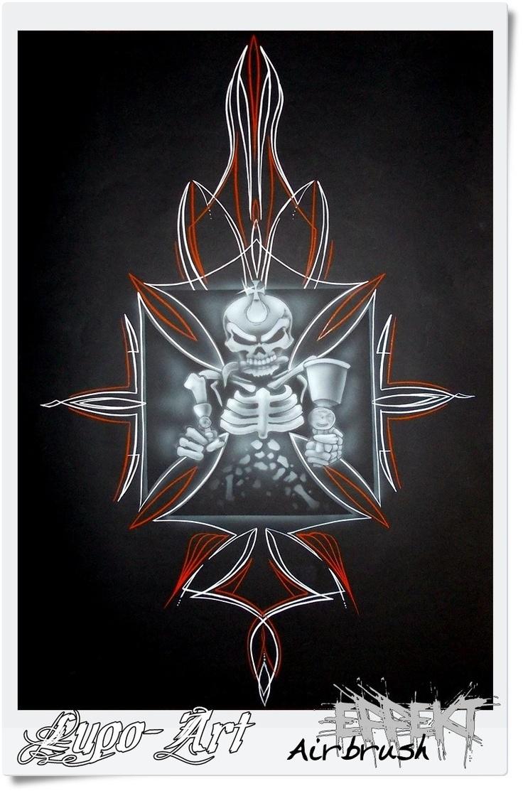 PinStripe, Iron cross, skull, schädel, eisernes Kreuz ...
