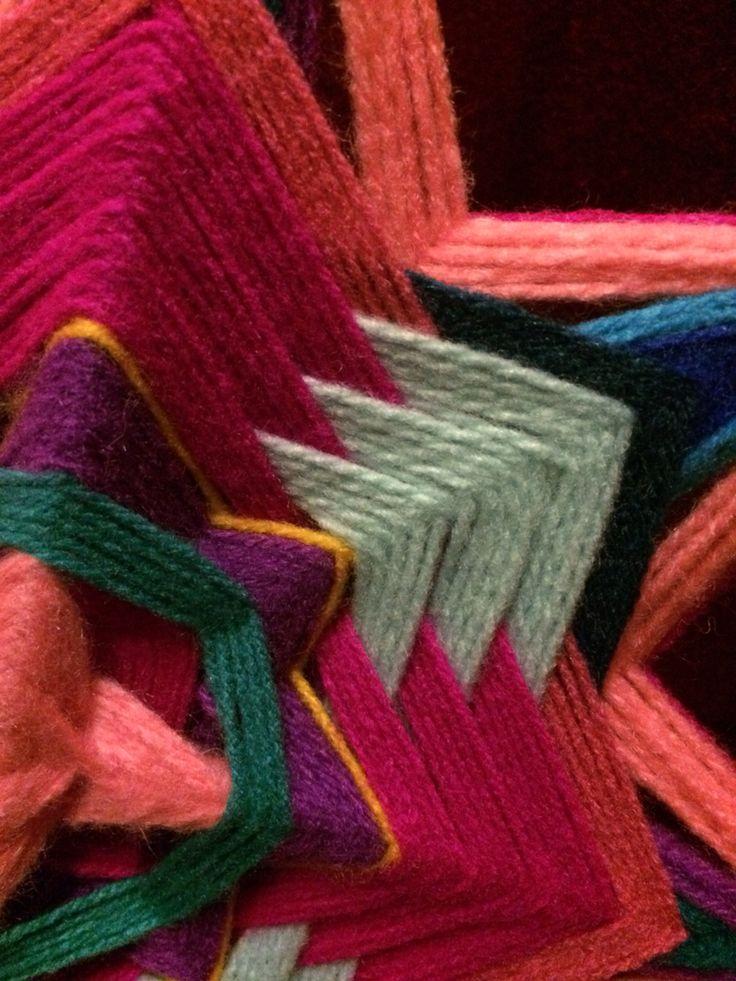 Detalle de Mandala tejido