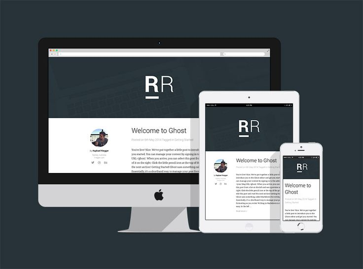 Ghost CMS Theme designed by Raphael Riegger