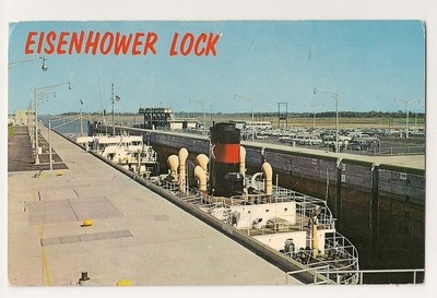 Isenhower Locks in Messena, New York, Ernie worked on this construction job.