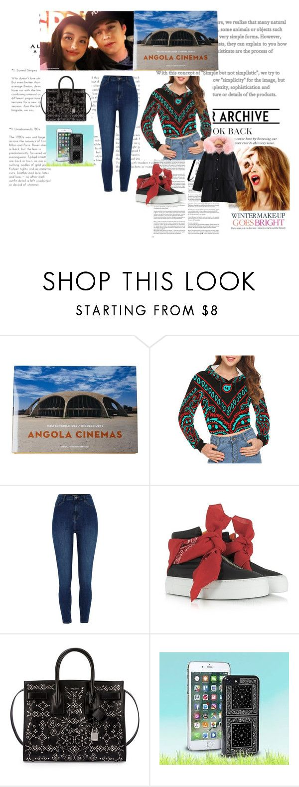 """""""Cinema date/Bandana print"""" by sarah-m-smith ❤ liked on Polyvore featuring Celestine, Whiteley, Joshua's and Yves Saint Laurent"""