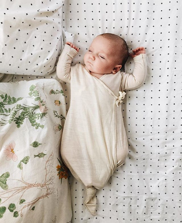 we're sharing the sweetest little post about one of our favorite lines @bacabuche #onminitoday. this newborn gown is so incredibly soft and perfect. ✨ |  @alovelybean