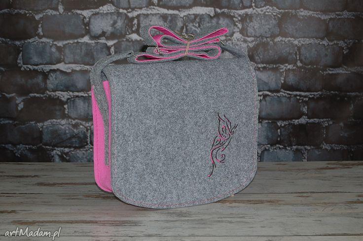 torba z filcu - listonoszka personalizowana z grawerowaną dedykacją. $49