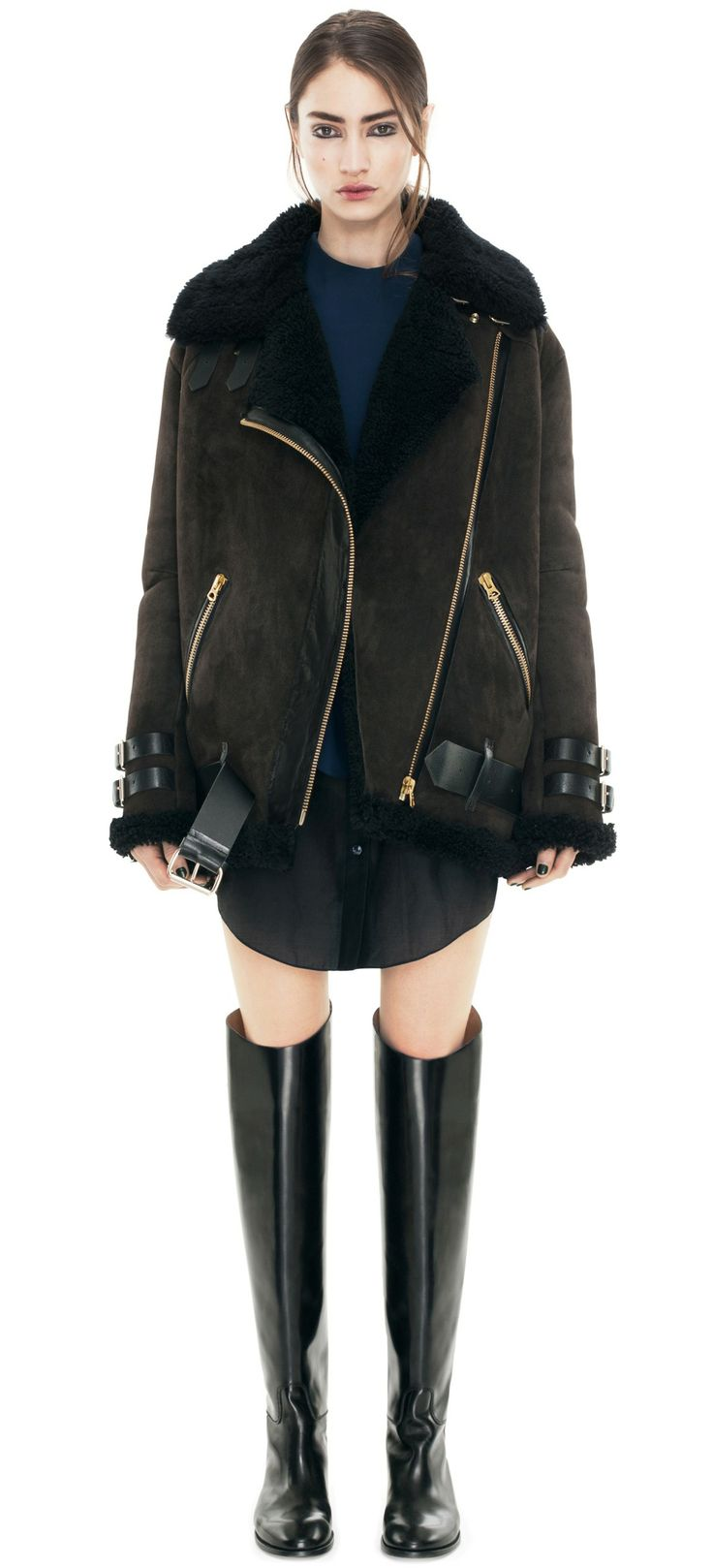 172 best Women's Fashion-Shearling Jacket images on Pinterest ...