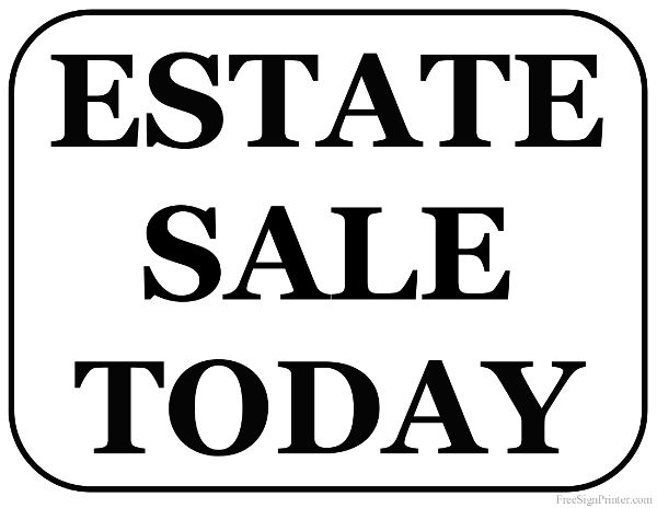 Printable Sign For Sale: 1000+ Images About Estate Sale Signs On Pinterest