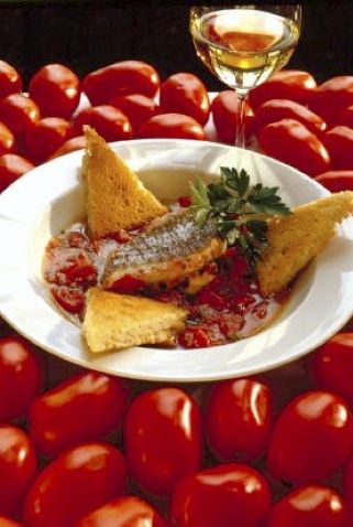 Braised Red Snapper in Garlic-Tomato Broth by Paul Bartolotta
