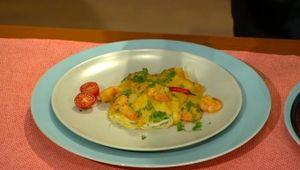Krevety na thajský spôsob s ryžovými rezancami